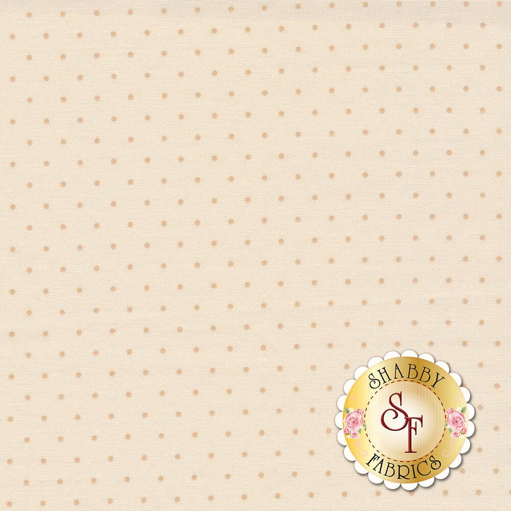 Tonal cream polka dots | Shabby Fabrics