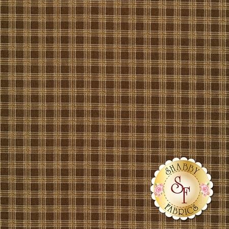 Brown plaid print | Shabby Fabrics