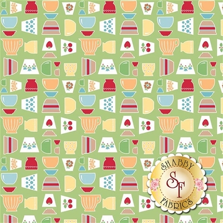 Bake Sale 2 C6980-GREEN by Lori Holt for Riley Blake Designs