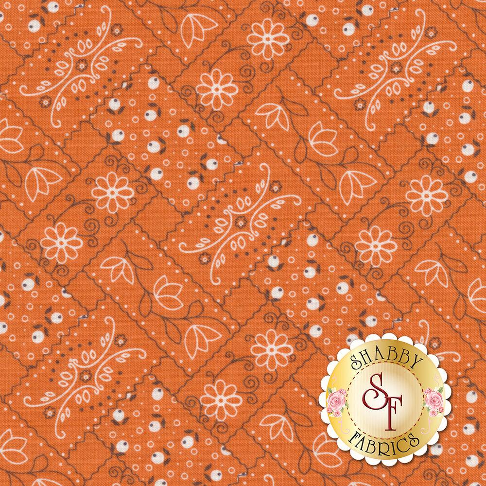 Farm Girl Vintage C7874-ORANGE Bandana Orange by Lori Holt for Riley Blake Designs