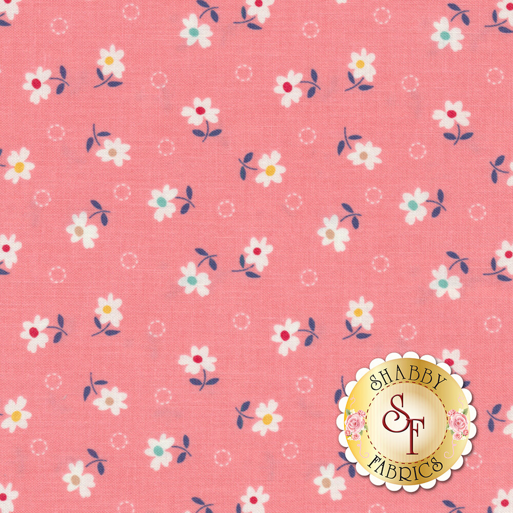 Farm Girl Vintage C7877-CORAL Daisy Coral by Lori Holt for Riley Blake Designs