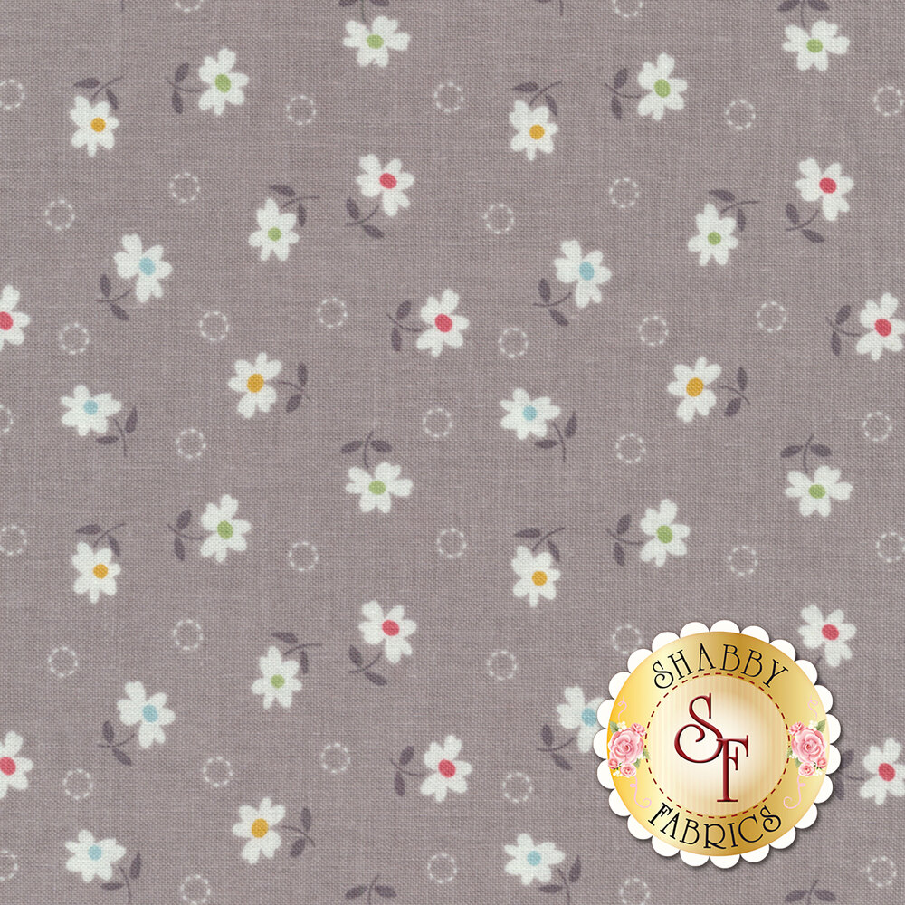 Farm Girl Vintage C7877-GRAY Daisy Gray by Lori Holt for Riley Blake Designs