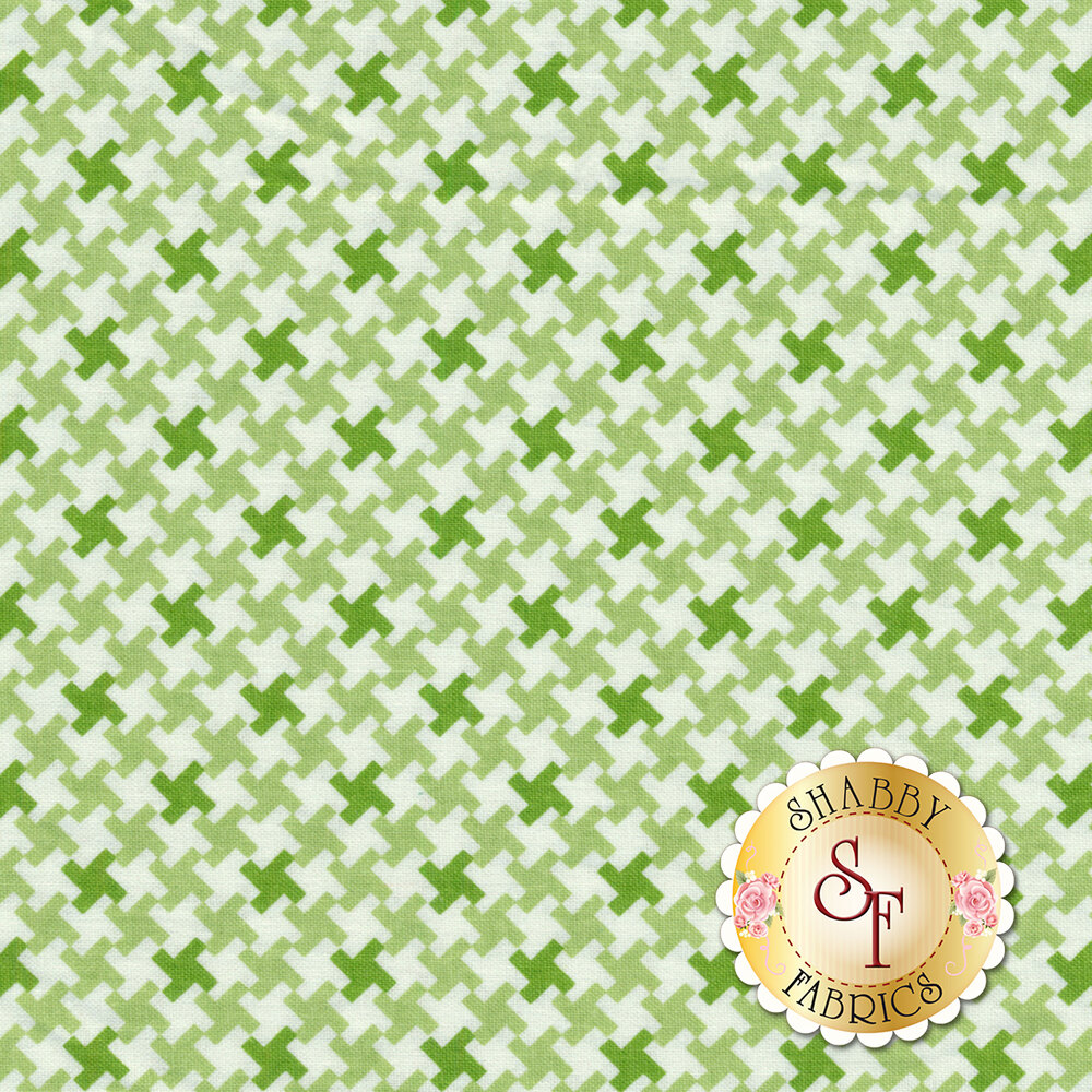 Farm Girl Vintage C7882-GREEN Houndstooth Green by Lori Holt for Riley Blake Designs