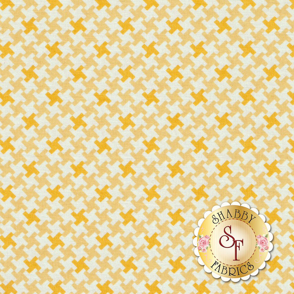 Farm Girl Vintage C7882-HONEY Houndstooth Honey by Lori Holt for Riley Blake Designs