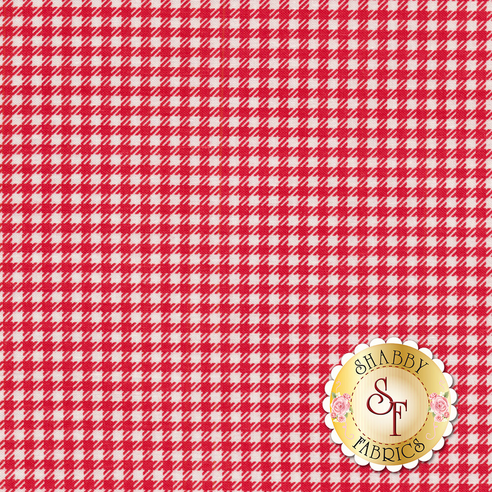 Farm Girl Vintage C7883-RED Gingham Denim by Lori Holt for Riley Blake Designs