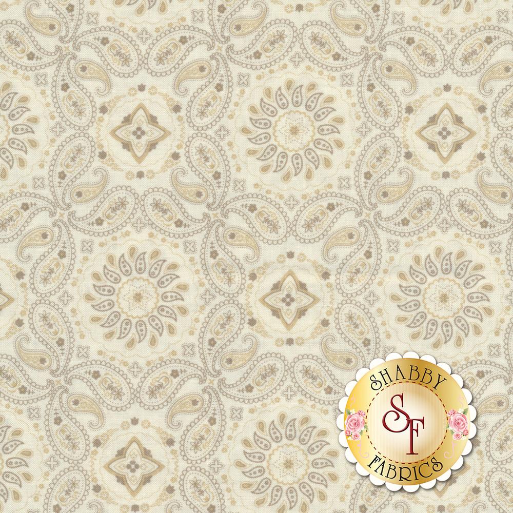 Cream bandana paisley design | Shabby Fabrics