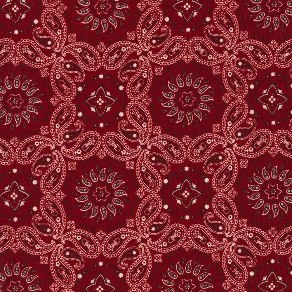 Red bandana paisley design | Shabby Fabrics