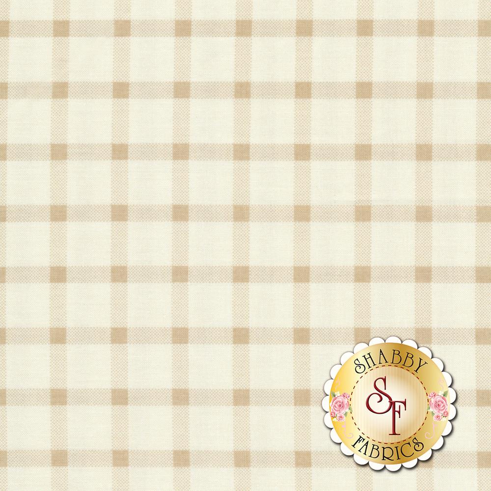 Tonal cream plaid | Shabby Fabrics