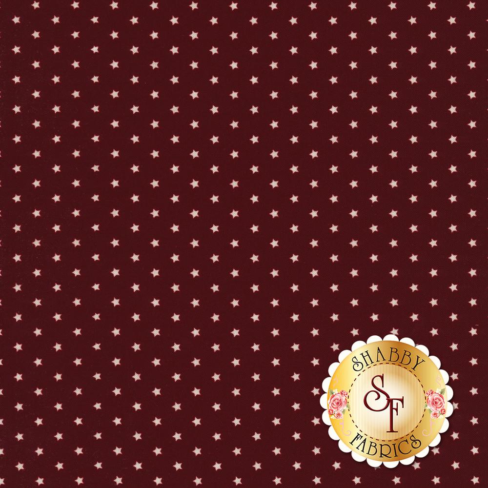 Small white stars all over red | Shabby Fabrics