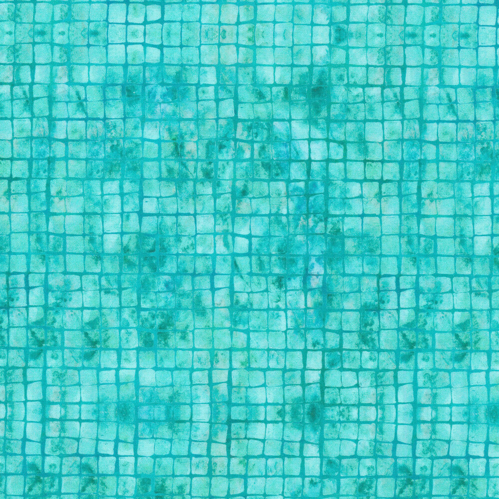 Square texture on a mottled teal background