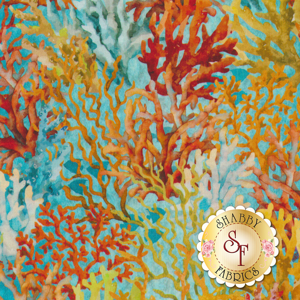 Calypso 3CAL-2 Teal for In The Beginning Fabrics