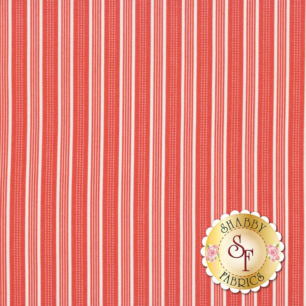 Red and white stripe fabric   Shabby Fabrics