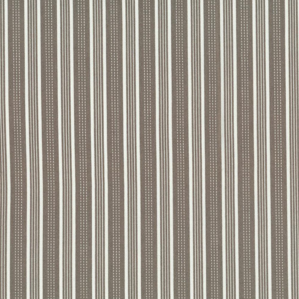 Gray and white stripe fabric | Shabby Fabrics