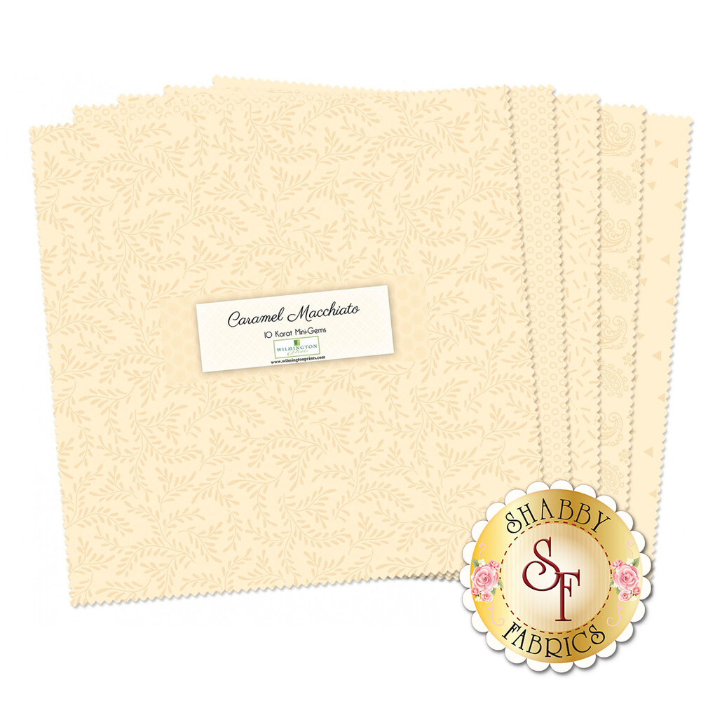 "Caramel Machiatto Mini 10"" Squares by Wilmington Prints available at Shabby Fabrics"