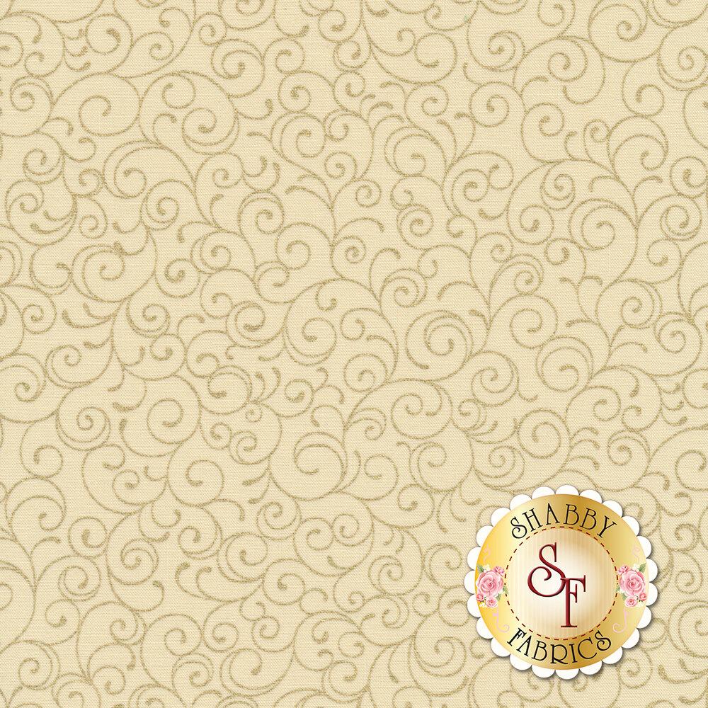 Metallic scrolls all over cream | Shabby Fabrics