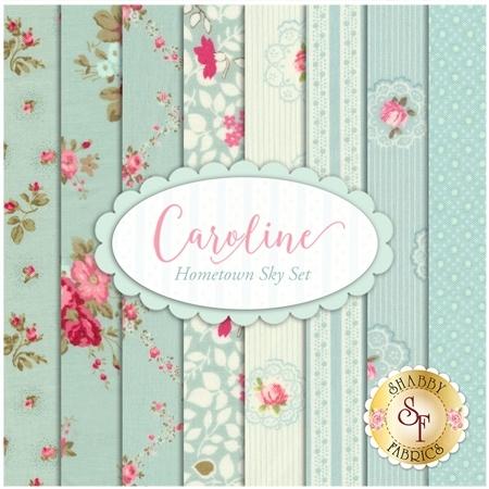 Caroline  8 FQ Set - Hometown Sky Set by Brenda Riddle for Moda Fabrics
