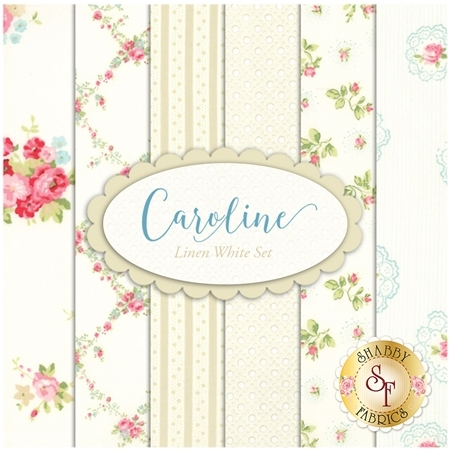 Caroline  6 FQ Set - Linen White Set by Brenda Riddle for Moda Fabrics