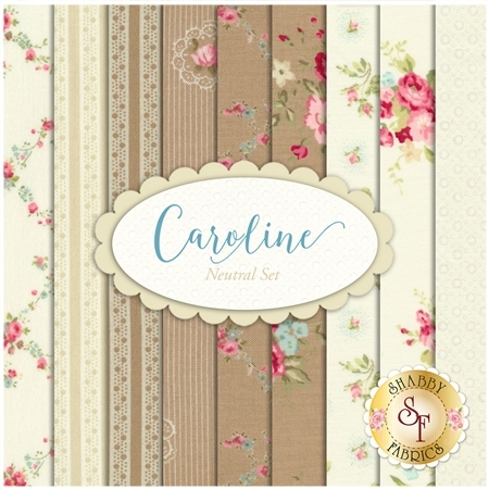 Caroline  9 FQ Set - Neutral Set by Brenda Riddle for Moda Fabrics