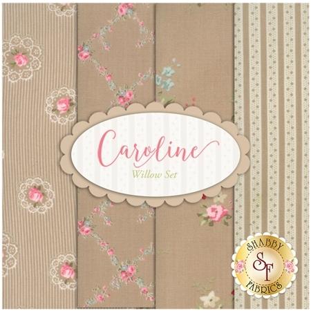 Caroline  4 FQ Set - Oatmeal Set by Brenda Riddle for Moda Fabrics