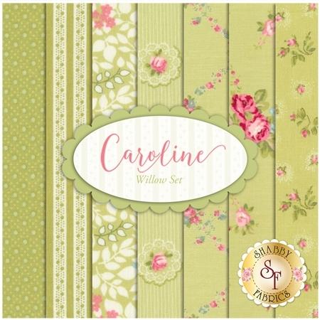 Caroline  7 FQ Set - Willow Set by Brenda Riddle for Moda Fabrics