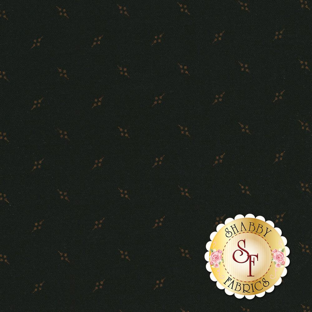 Small tossed diamonds on a black background | Shabby Fabrics