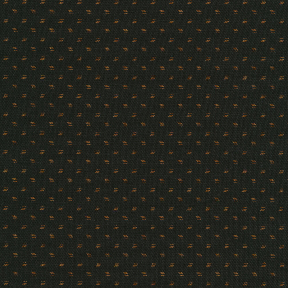 Small gold repeating rivets on a black background | Shabby Fabrics