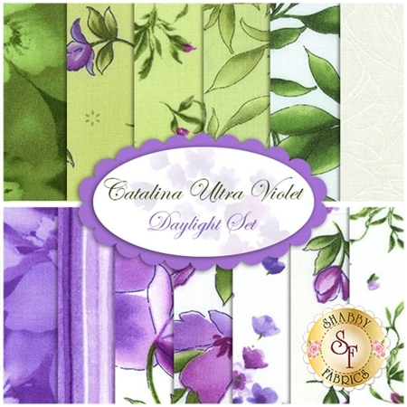 Catalina Ultra Violet  13 FQ Set - Daylight Set by Marti Michell for Maywood Studio Fabrics