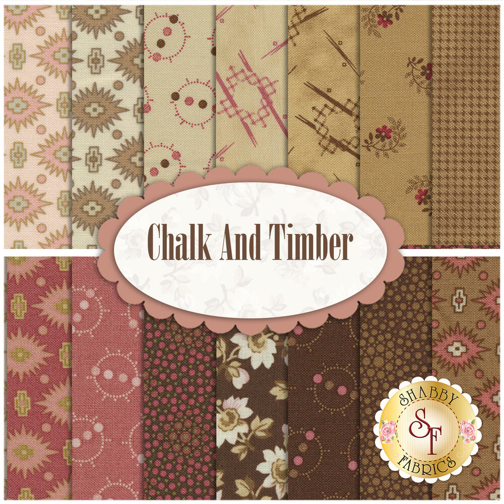 Chalk And Timber  19 FQ Set from Marcus Brothers Fabrics