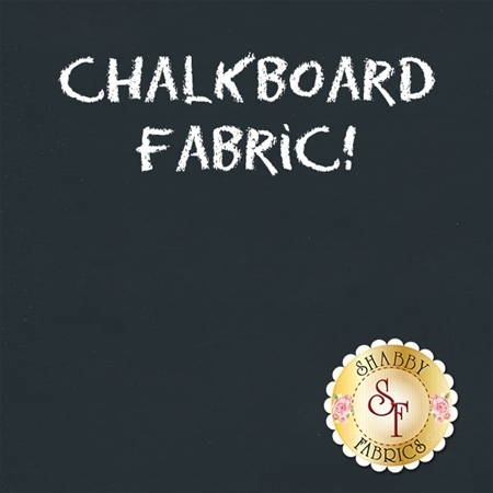 Black Chalkboard Fabric by Camelot Fabrics