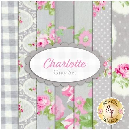 Charlotte  7 FQ Set - Gray Set by Tanya Whelan for Free Spirit Fabrics