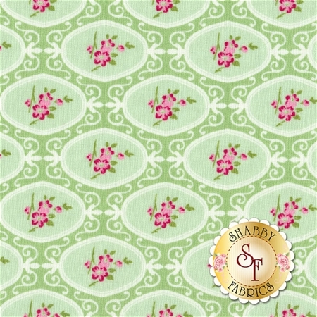 Charlotte PWTW146-GREE by Tanya Whelan for Free Spirit Fabrics