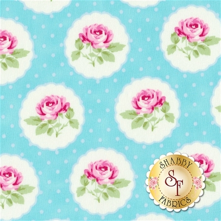 Charlotte PWTW149-BLUE by Tanya Whelan for Free Spirit Fabrics