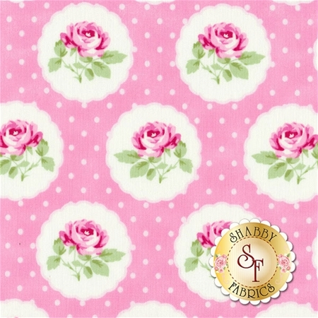 Charlotte PWTW149-PINK by Tanya Whelan for Free Spirit Fabrics