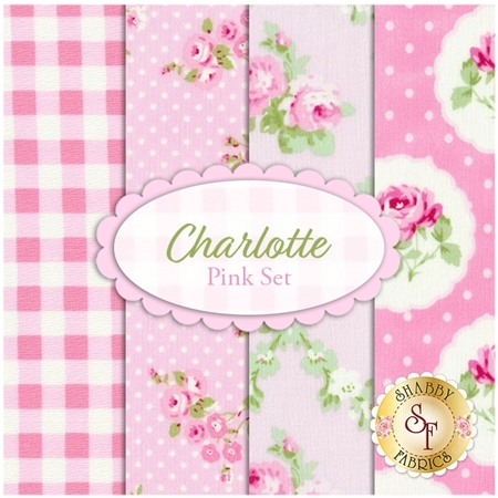 Charlotte  4 FQ Set - Pink Set by Tanya Whelan for Free Spirit Fabrics