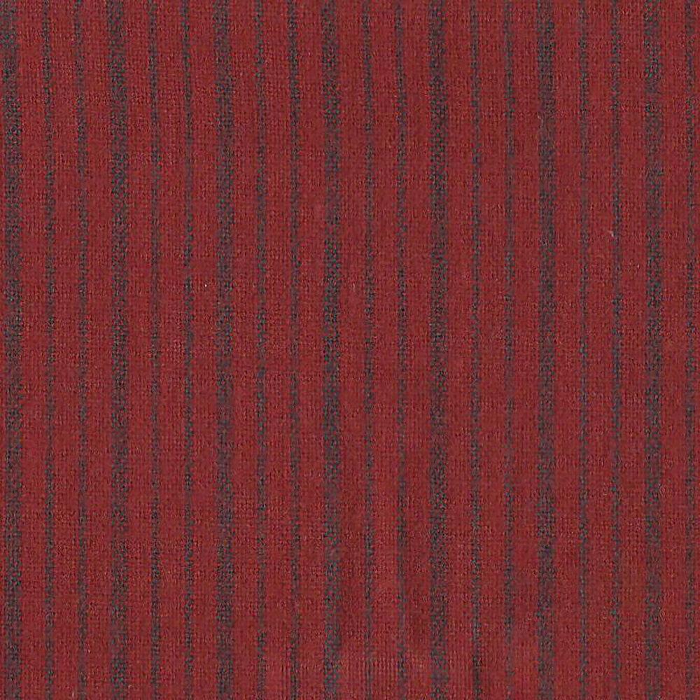 Navy stripe on red | Shabby Fabrics