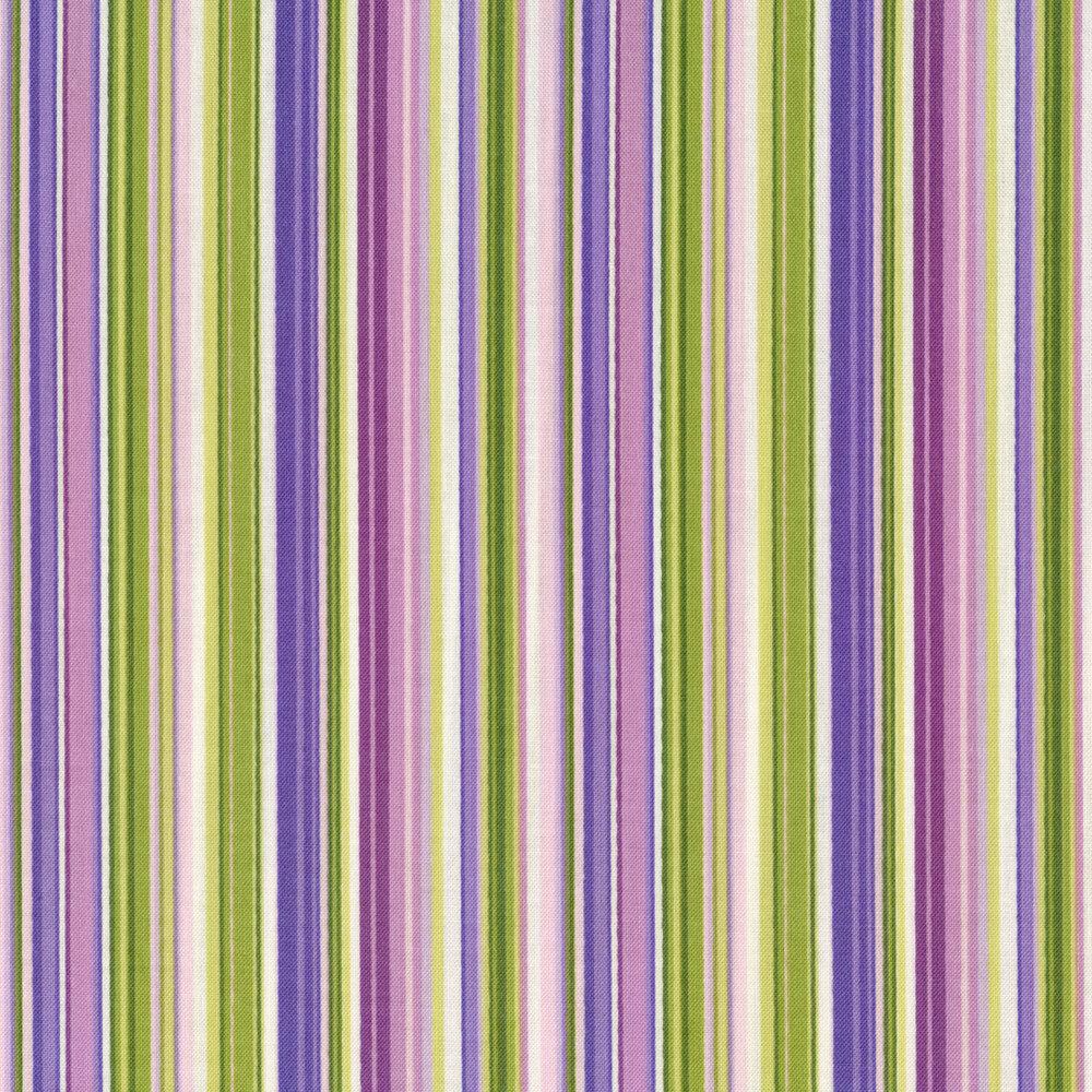 Purple and green striped design | Shabby Fabrics