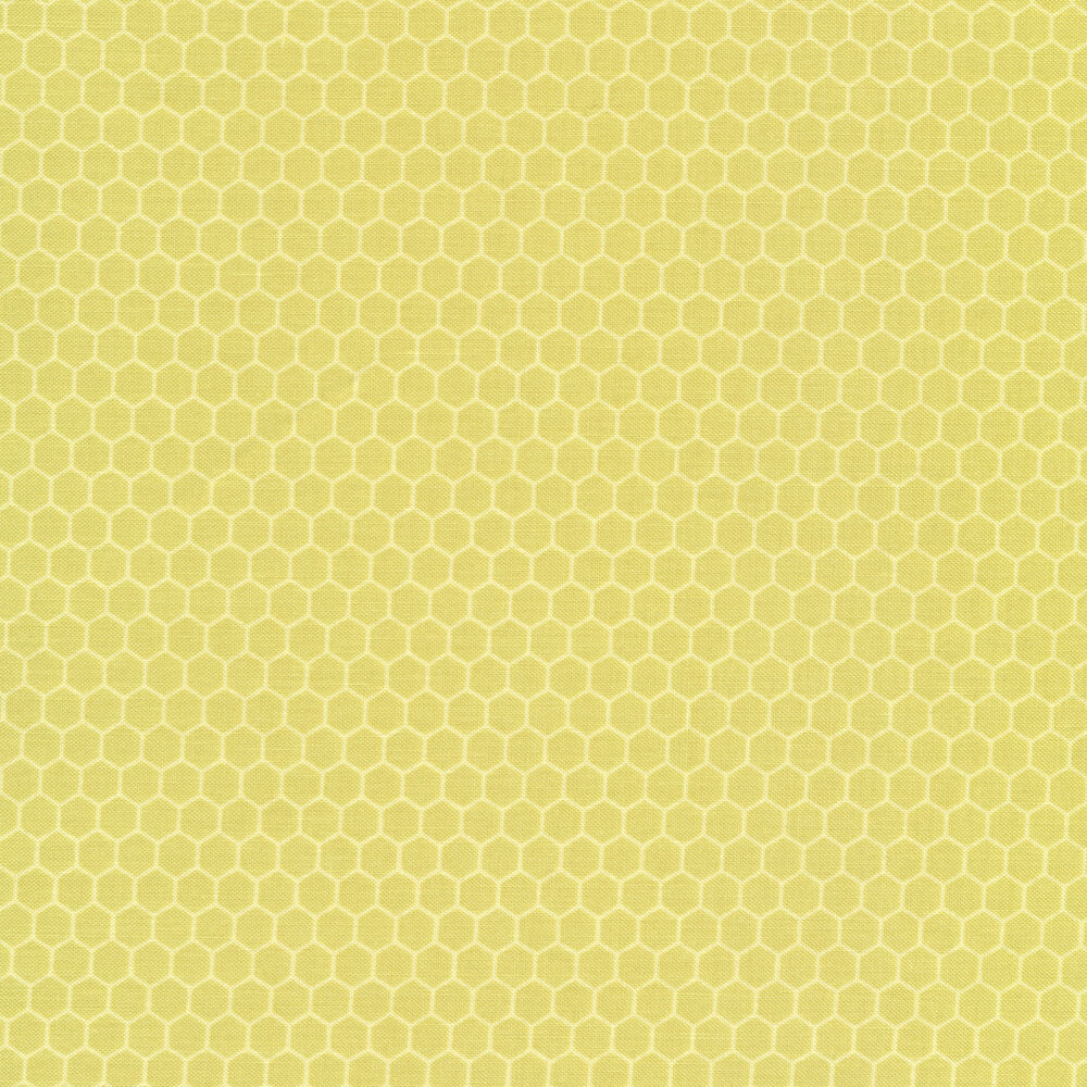 Light green tonal honeycombs | Shabby Fabrics