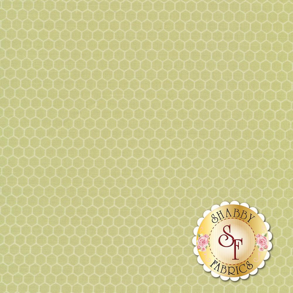Light green tonal honeycombs | Shabby Fabrics
