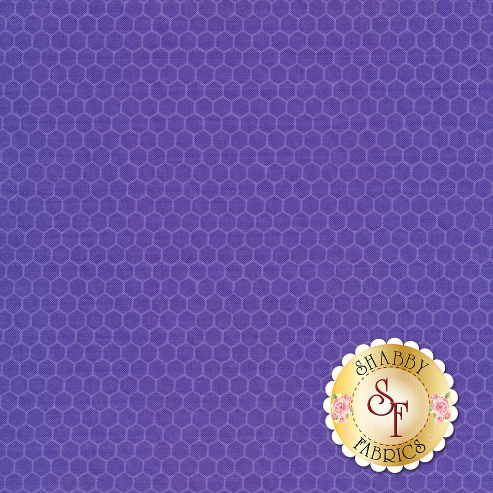 Dark purple tonal honeycombs | Shabby Fabrics