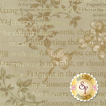 Cherry Blossoms 8680-66 by One Sister Designs for Henry Glass Fabrics