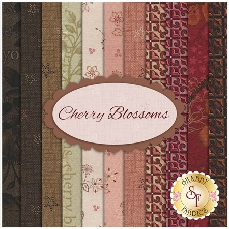 Cherry Blossoms  11 FQ Set by One Sister Designs for Henry Glass Fabrics