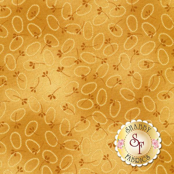 Chicks On The Run 3115-35 Oval Dots Tonal Marigold by Cheryl Haynes for Benartex Fabrics