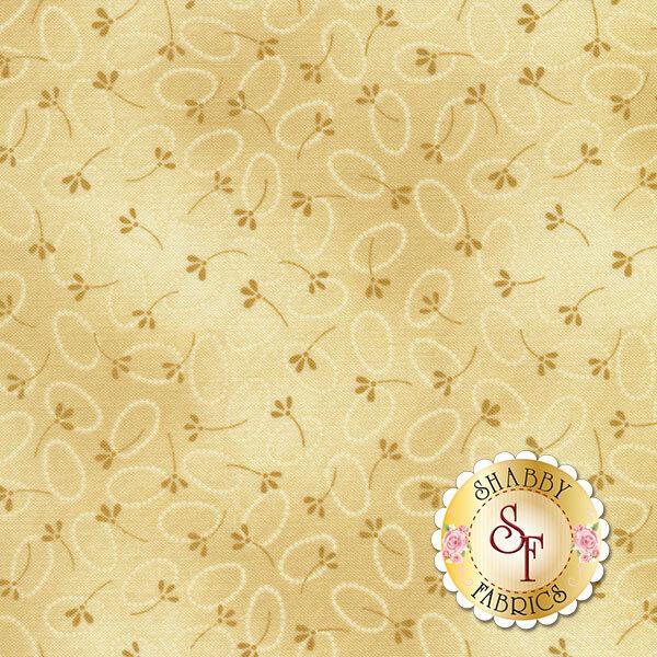 Chicks On The Run 3115-72 Oval Dots Tonal Tan by Cheryl Haynes for Benartex Fabrics