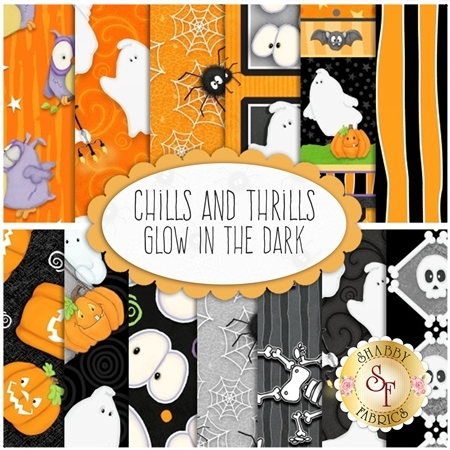 Chills And Thrills Glow In The Dark  Yardage by Henry Glass Fabrics