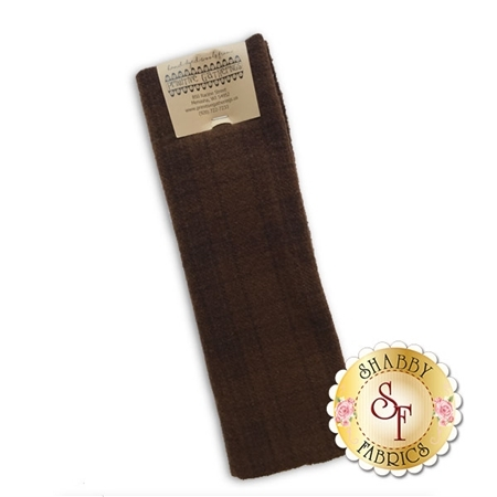 Hand Dyed Wool PRI 5091 Chocolate Plaid by Primitive Gatherings for Moda Fabrics