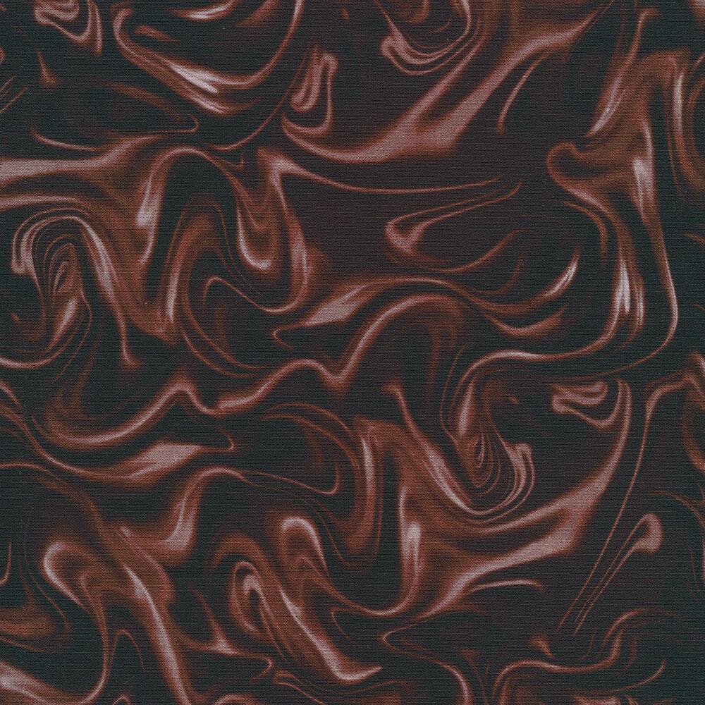 Dark liquid chocolate fabric