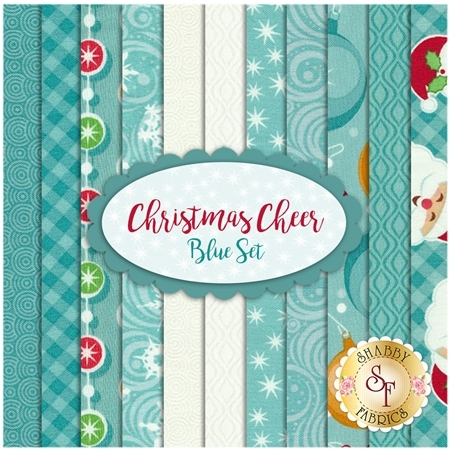 Christmas Cheer  11 FQ Set - Blue Set by Patrick Lose Fabrics