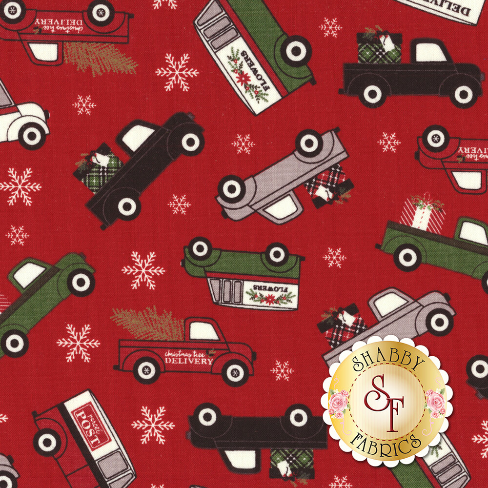 Christmas Delivery C7330-RED for Riley Blake Designs