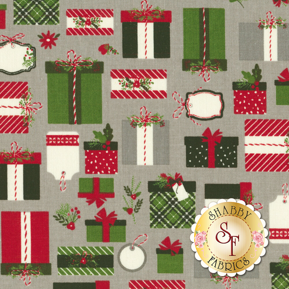 Christmas Delivery C7331-GRAY for Riley Blake Designs