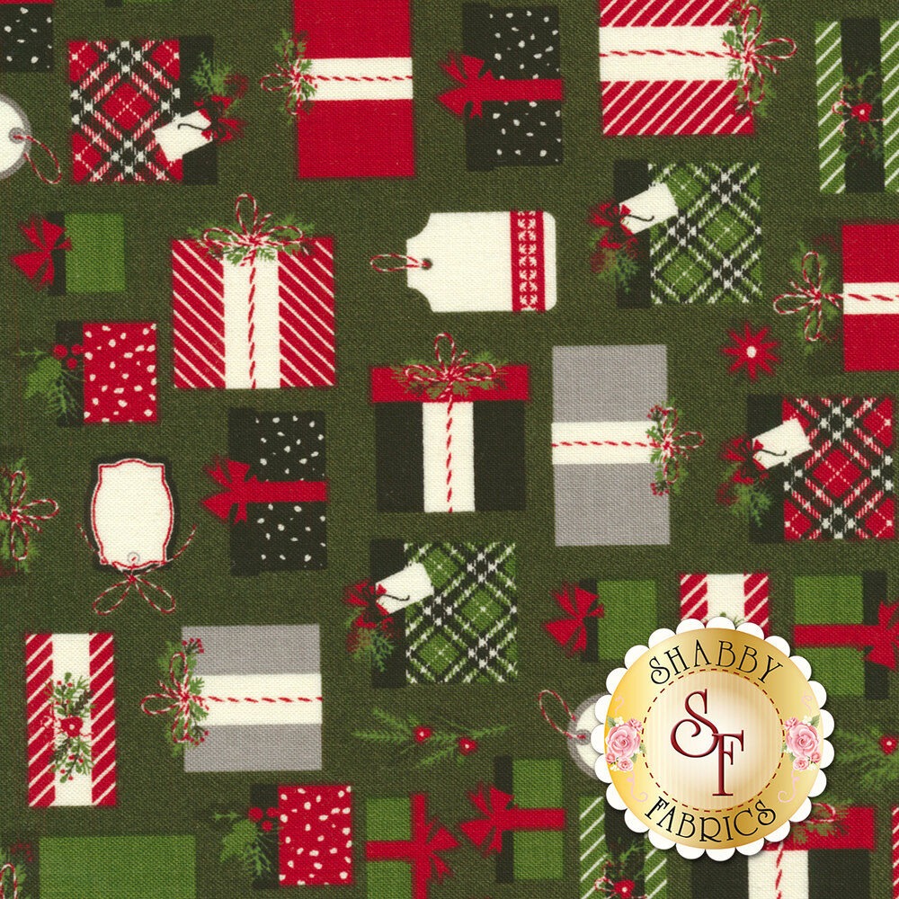 Christmas Delivery C7331-GREEN for Riley Blake Designs